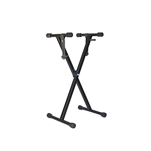 AMAZOM Heavy-Duty Piano Keyboard Stand, X Type, Pre-Assembled, Infinitely Adjustable Piano Keyboard Stand with Locking Straps