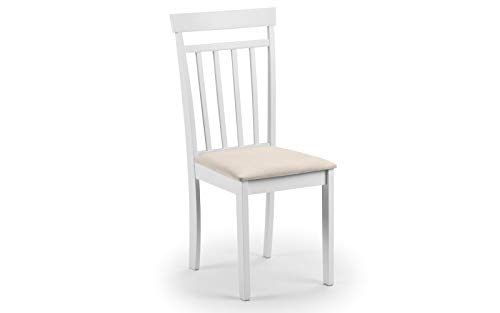 Julian Bowen Coast Set of 2 Dining Chairs, White