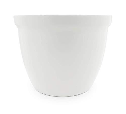 K&K Venus II - Vaso per piante, 22 x 18 cm, in ceramica, colore: Bianco opaco