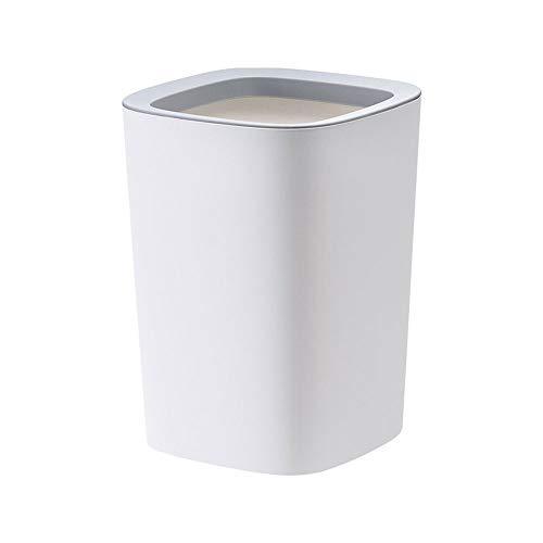 Lpiotyuljt Cubo Basura Reciclaje, Basura Can Cocina Cocina Cuarto de baño Sala de Estar Blanco (21.5 * 29.5cm) Oficina de Dormitorio de Cocina Bote de Basura de plástico Grande