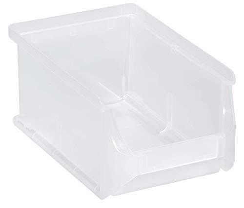 Allit 456261 ProfiPlus Box 2, transparent Stapelsichtbox, PP TÜV/GS, V: 0,8 L,Lagersichtbox, Sichtbox, Lagerbox, stapelbar