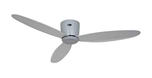 Casafan Eco Plano II 311285 Plafondventilator, 112 cm, tot 15 m2, lichtgrijs, afstandsbediening