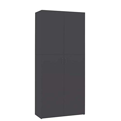 Zapatero con 2 Puertas y 6 estantes de Almacenamiento Organizador de Zapatero de aglomerado Gris para Dormitorio, Entrada, Pasillo, Muebles para el hogar 31.5 x 14 x 70.9 Pulgadas (L x W x H