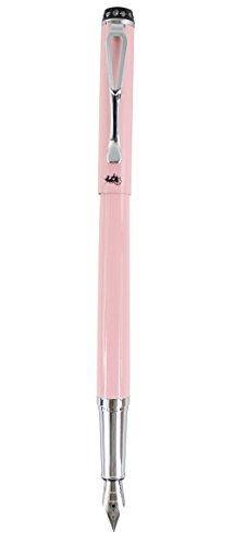 Sipliv 301 medio plumín de la pluma estilográfica, establecer tapa de diamante, rosa brillante