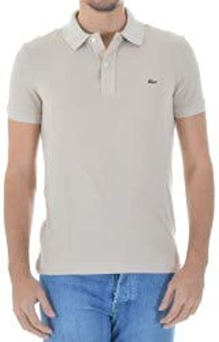 Lacoste - T-Shirt Polo - Col Polo - Manches Courtes Homme - Beige - Medium