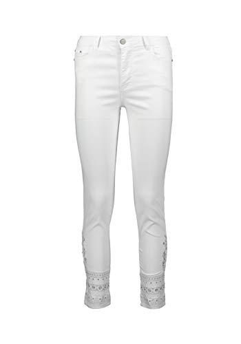 ZABAIONE Jeans Olivia mit Pailletten, Farbe:Weiß, Größe:34