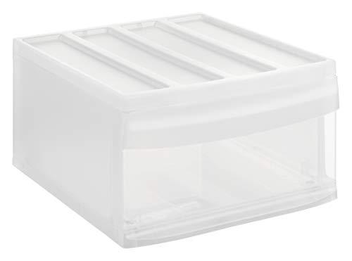 Rotho Systemix Schubladenbox 1 Schublade, Kunststoff (PP), transparent, Gr. L (39,5 x 34 x 20,3 cm)