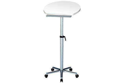 Maul Stehpult, Höhenverstellbar, Neigbar, Tischplatte weiß, 5 Bremsrollen, 60 x 51 x 120 cm, 9304102