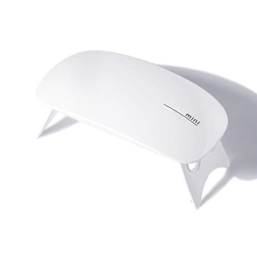 QAVILFLY Mini lámpara de uñas, lámpara de uñas LED UV, portátil, forma de ratón, tamaño de bolsillo, máquina de gel para manicura y pedicura