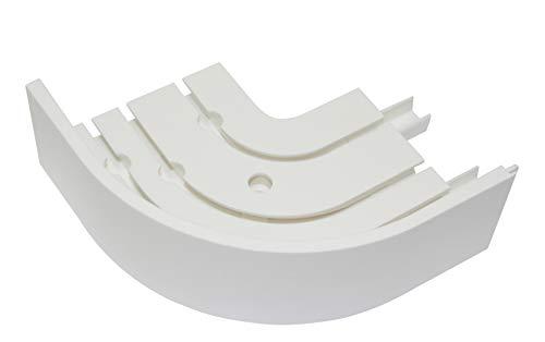 Gardinia Rundbogen P2Ü weiß 13,5/13,5 cm, 1 Paar, 13.5/13.5 cm, 2