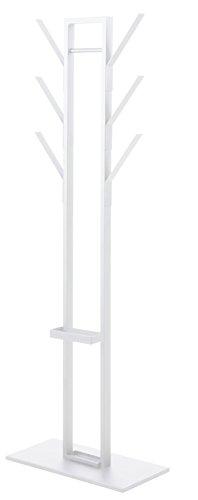 AC Design Furniture Perchero Victoria, B: 56x t: 28x h: 165cm, Acero, Color Blanco