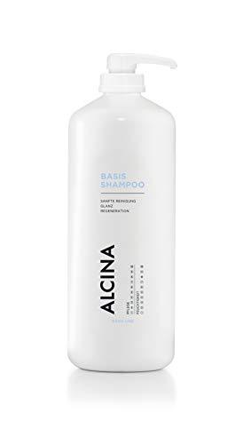 ALCINA Basis-Shampoo - Mild-cremiges Shampoo für gepflegtes, glänzendes Haar - 1 x 1250 ml