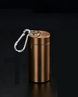 XIAOXIA Wasserdichter Tabakfass Tee Caddy Zerkleinertes Tabakfass Dicke 20-teilige Metallzigarettenkoffer Tabakkanne Außengewinde Mit Dichtungsgummiring
