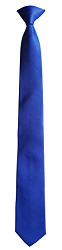 Simpowe Uniform Mens Clip On Neck Ties (Blue-20.47' Long)