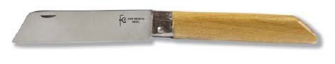 Flores Cortés Couteau avec Manche Droit en hêtre 62 mm sans Pointe, Manche en hêtre Droit