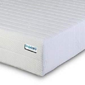 BEDZONLINE Micro Quilted Cool Flex Cover Memory Foam and Reflex 3-Zone Mattress with 1 Fibre Pillows, Cotton Blend, White, Single