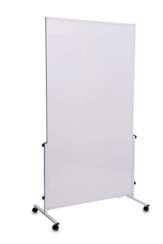 Whiteboard mobil MAULsolid easy2move, magnethaftend und beschreibbar, weiß, beidseitig, auch als Stellwand nutzbar
