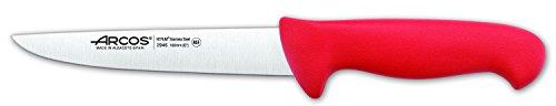 Arcos Serie 2900, Cuchillo Carnicero, Hoja de Acero Inoxidable Nitrum de 160 mm, Mango inyectado en Polipropileno Color Rojo