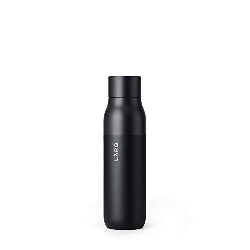 LARQ Bottle - Self-Cleaning Water Bottle and Water Purification System, Obsidian Black (17oz / 500ml)