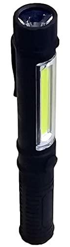 モブリロ(MOBRILLO) クリップライト マグネット付き 120lm 2種類のライト (COBLED/LED) 作業灯 懐中電灯 ブラック MBP-B120
