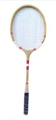 Navex Wooden Ball Badminton Raquet (Pack of Single Raquet) Brown Strung Racquetball Racquet (Pack of: 1, 200 g)