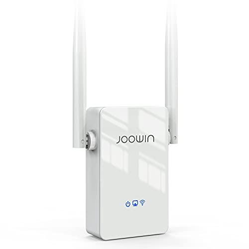 JOOWIN Repetidor WiFi 300Mbps Amplificador WiFi 2,4 GHz WiFi Extender WiFi Range Booster Compatible Modo Router Ap  Puente con WPS, WiFi Repeater con Rápido Puerto Ethernet y 2 Antenas 5dBi