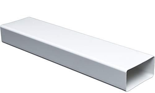 Flachkanal Länge 100 cm/1 m für 55 x 110 Flachkanal Lüftungssysteme. Abluftkanal oder Zuluftkanal. Hohe Qualität ABS-Kunststoff (FS55-10)