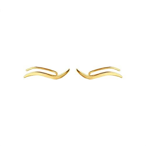 1 pieza de pendientes para mujer con forma de onda minimalista para niñas sin perforaciones