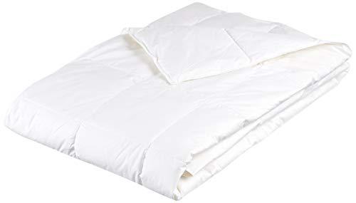 Künsemüller Sommerdaunenzudecke Decke, Baumwolle, weiß, 155x220