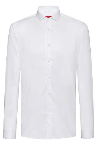 Photo of HUGO Men's Erriko Casual Shirt, White (Open White 199), X-Large (Size: 43)