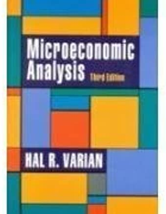 Microeconomic Analysis 3rd Edition By Varian Hal R 2010