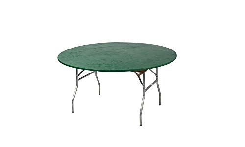 Kwik-Covers 60 Round Fitted Plastic Table Covers, Bundle of 5 (Hunter Green)