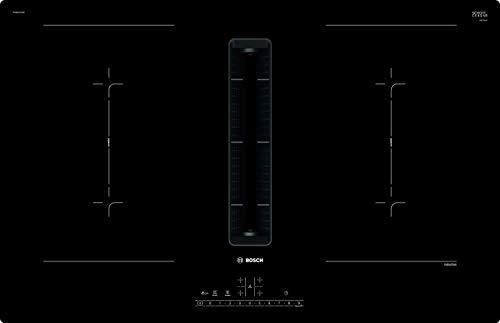 Bosch PVQ811F15E Serie 6 Induktionskochfeld mit Dunstabzug (autark) / 80 cm / Schwarz / Rahmenlos / DirectSelect / 17 Leistungsstufen / PowerBoost / MoveMode / CombiZone