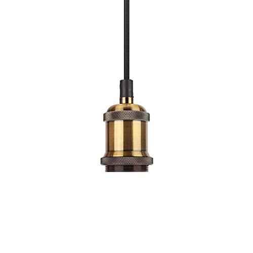 Lámpara colgante vintage, lámpara colgante, techo 85-265 V para sala de estar para cafetería(Gold bronze, Transl)