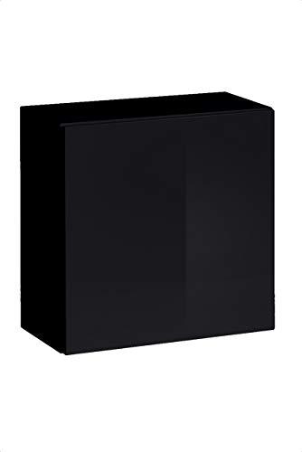 muebles bonitos Lettiemobili – Mobile pensile Verticale Berit 60x60 Nero (Modulo Individuale)