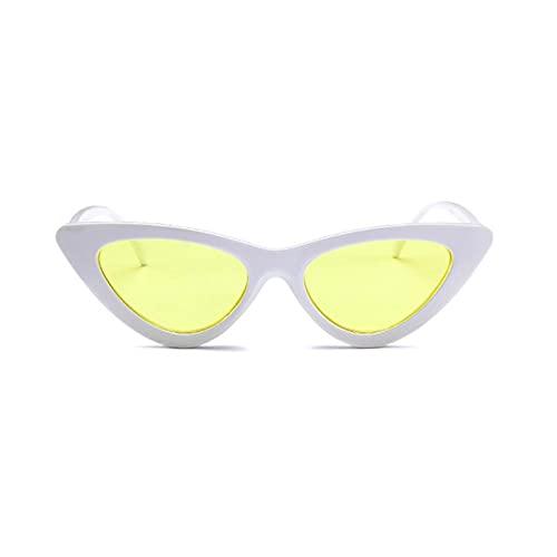BAYSU Gafas de Sol Moda Gato Ojo Gafas de Sol para Las Mujeres Sombras de Ojos Vintage Retro Mujer Triangular uv400 Gafas Hembra Gafas de Sol Gafas de Sol Gafas de Sol (Lenses Color : 08)
