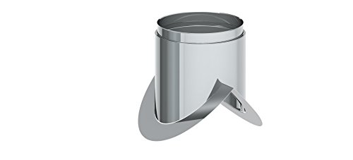 Ofenrohr - Eckwandfutter 90° mit Blende lose; 120mm Durchmesser, Edelstahl