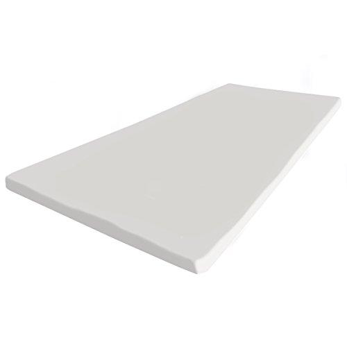 supply24 Gel / Gelschaum Matratzenauflage Topper 180 x 200 cm Höhe 5 cm Auflage für Matratze mit abnehmbaren Baumwollbezug