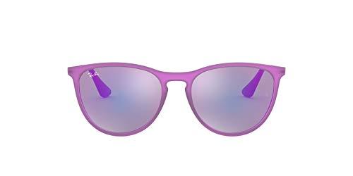 Ray-Ban JUNIOR Izzy Gafas de sol, Violet Fluo Trasp Rubber, 50 Niña