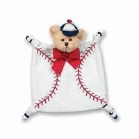 Bearington Baby Collection Wee Lil' Slugger Snuggler Security Blanket by Bearington (English Manual)