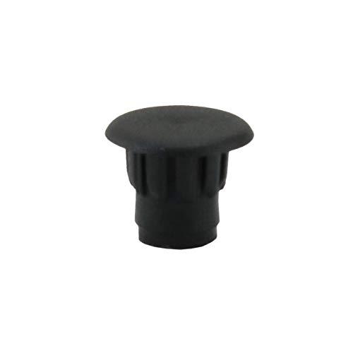 IROX - 10 tapones para los agujeros de 5 mm de diámetro, color negro, de plástico