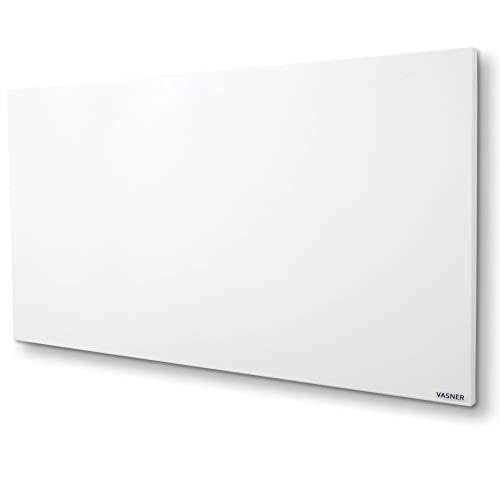 Infrarotheizung VASNER Citara 1100 Watt, 60 x 140 cm, Elektroheizung Wand- Deckenmontage, Metall, patentierte Halterung, IP44 Schutz Bad Heizpaneel, weiß