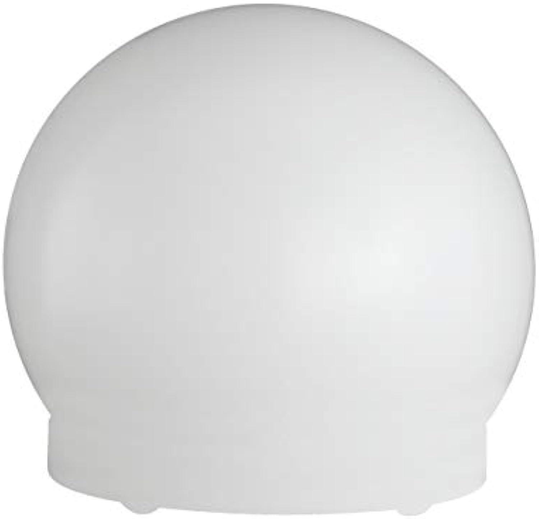 WOFI Tischleuchte, Durchmesser 30 cm, Energieeffizenzklasse geeignet für Leuchtmittel der EEK A++ bis E, Kunststoff-Kugel inklusive Erdspie, 1-flammig, Serie Lua, 1 x E27, 25 W, 250 V, wei