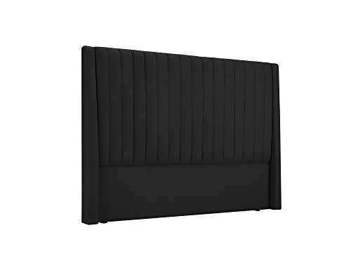 Cosmopolitan Design Tête De Lit, Dallas, Noir, 156(140) x14x120