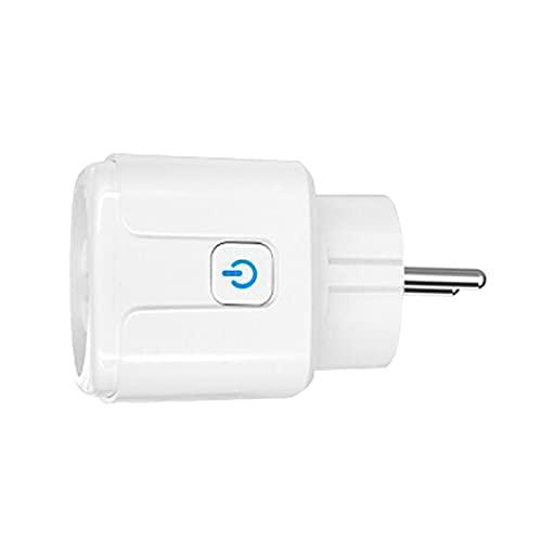Adaptador de Enchufe WiFi Inteligente 16A Control Por Voz - con estadísticas de electricidad