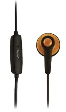 New OEM Samsin ECO Disk Ear Bud Mono 3.5mm Headset with Mic for Motorola Droid Bionic, Samsung Droid Charge i510, LG Revolution VS910, LG Cosmos 2 VN251, Motorola Droid 3, HTC Incredible 2, Apple iPhone 4/4S