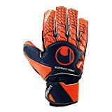 uhlsport Torwarthandschuhe Next Level -Soft SF Junior - In den Größen 4-14 Innenhand, Keeper-Handschuhe entwickelt mit Profis-Optimaler Halt und Grip, in Kindergrößen verfügbar, Marine/Fluo rot, 6