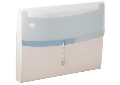 Tarifold Es 511321 - Carpeta Clasificadora Acordeón Archivadora Extensible Portátil Organizador Documentos para A4 con 13 Compartimientos, Gran Capacidad, Color Dream, Blanco/Azul pastel