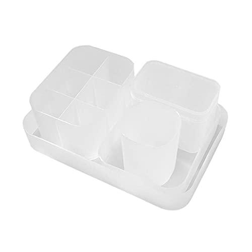 Storage Holder Makeup Organiser Holder Cosmetic Storage Box Adjustable Pen Diamond Organizer for Cupboard Kitchen Makeup 5PCS