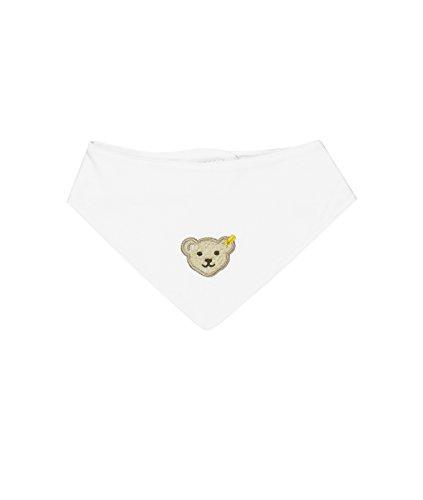 Steiff Unisex - Baby Halstuch 0006680 Nickytuch, Einfarbig, Weiß (Bright White 1000), Einheitsgröße (Länge 32,5cm)